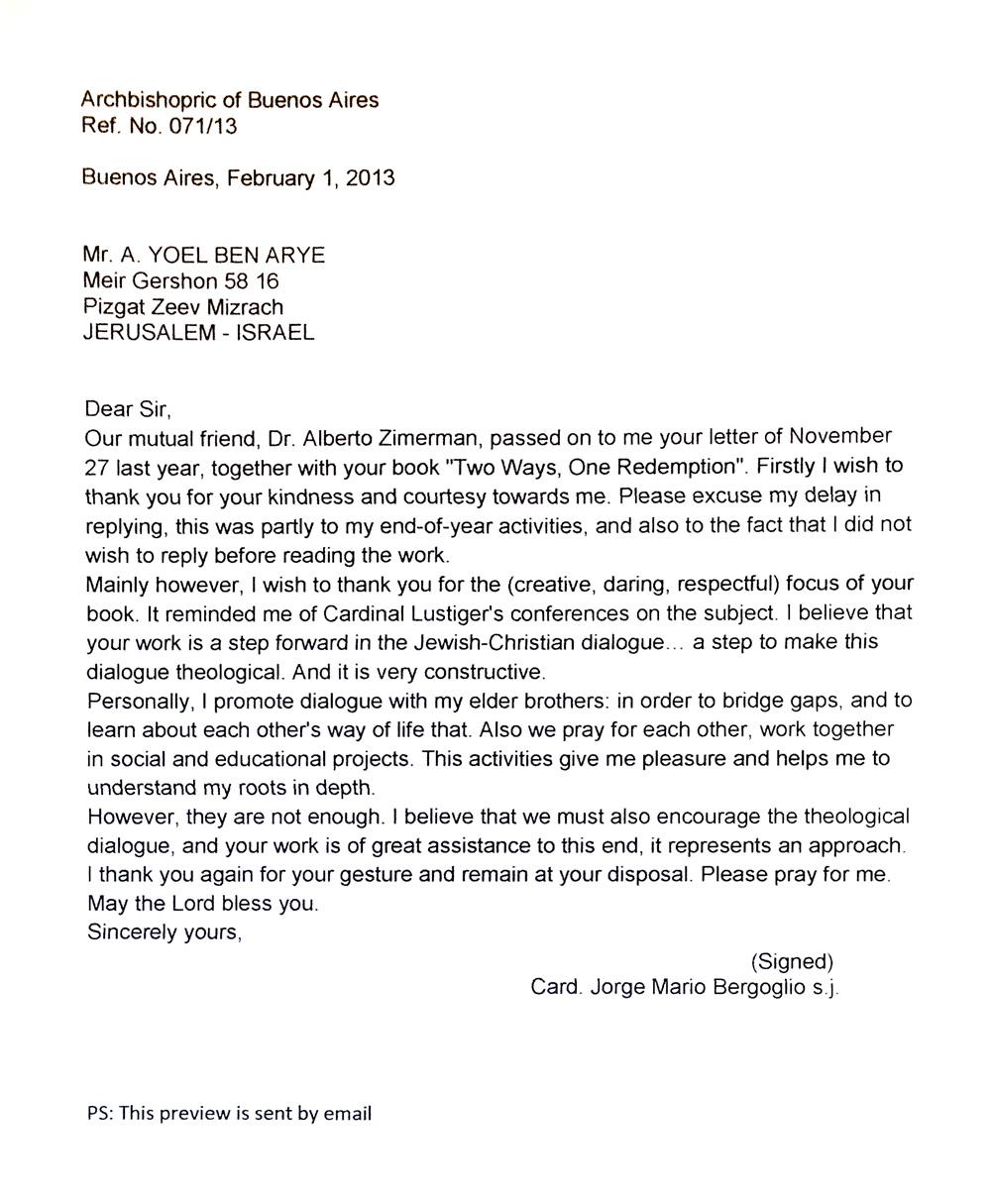 redemption letter sample