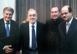 A. Yoel ben Arye en la presentación del libro Dos Caminos Una Redencion Rav Abraham Skorka, Padre David Felipe Specchiale, Sheik Jose Ibrahim