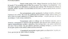 Una carta del Cardenal Jorge Mario Bergoglio en relación con el libro Dos Caminos, Una Redención